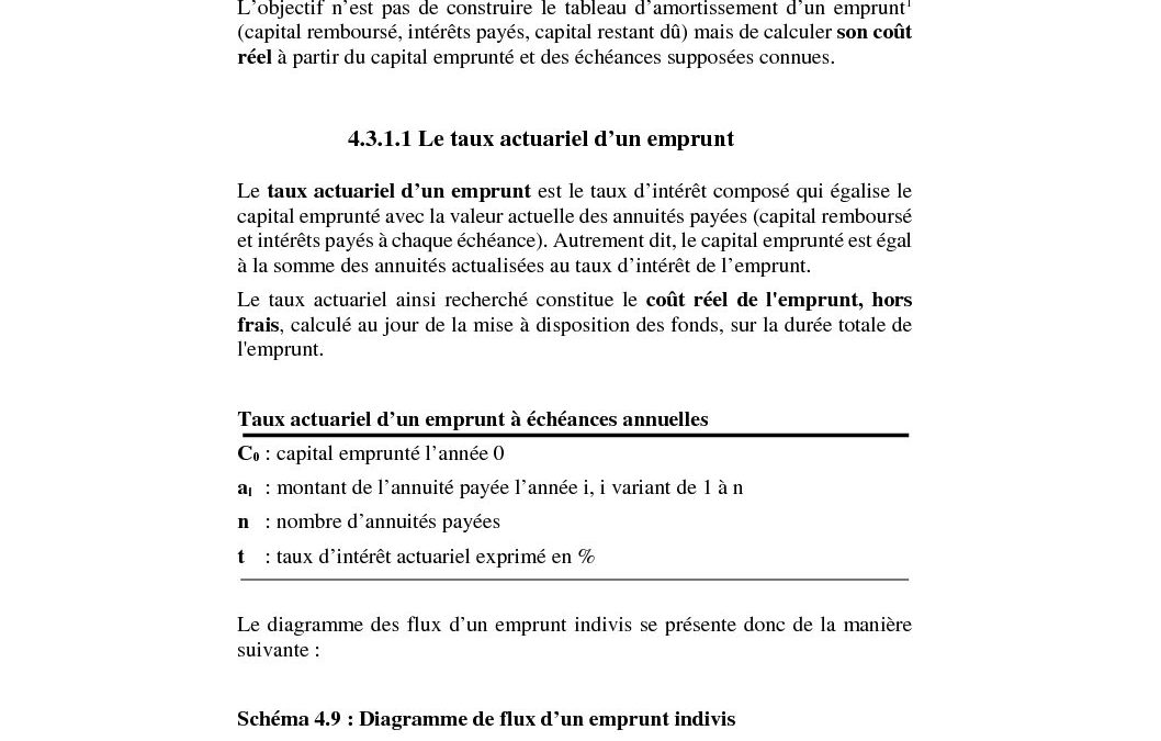 Exemples d'application du mécanisme de l'actualisation